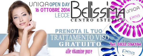 Open Day Uniqa a Lecce - centro estetico Bellissima